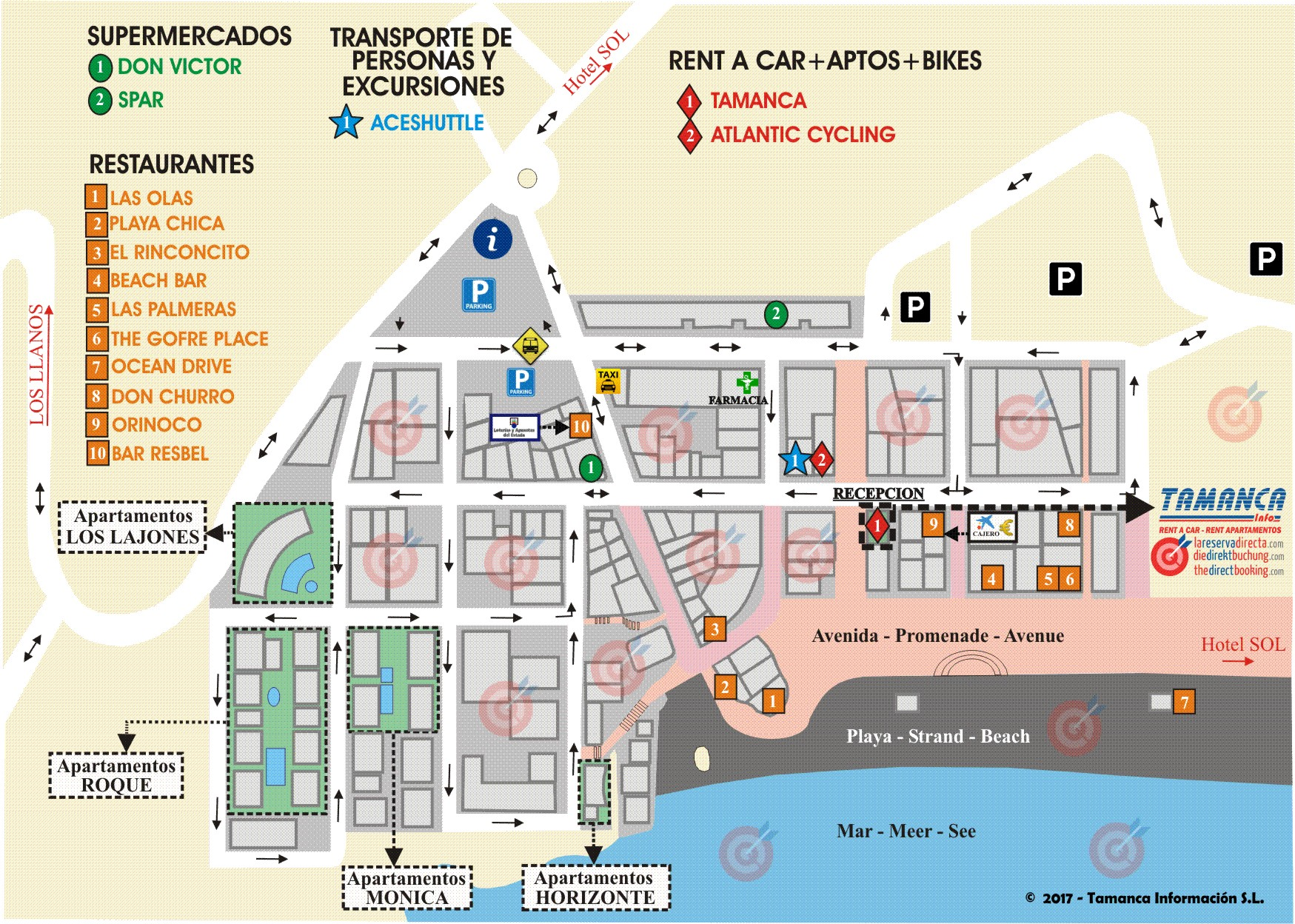 Mapa/Callejero de Puerto Naos